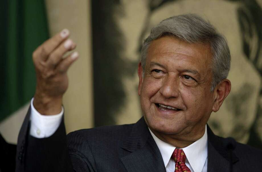 Andres Manuel Lopez Obrador, presidential candidate for the Democratic Revolution Party (PRD), speaks during a news conference in Mexico City, Tuesday, July 3, 2012. With 99 percent of the vote tallied in the preliminary count, Lopez Obrador trails by just six percentage points behind the election's apparent victor, Enrique Pena Nieto of the Institutional Revolutionary Party, or PRI. The narrower-than-expected margin is fueling suspicion among Lopez Obrador's followers about the fairness of the vote. Lopez Obrador said he would not accept the preliminary election results reported by the Federal Elections Institute and would wait until Wednesday, when the official results are to be announced, before deciding what he will do. Photo: AP