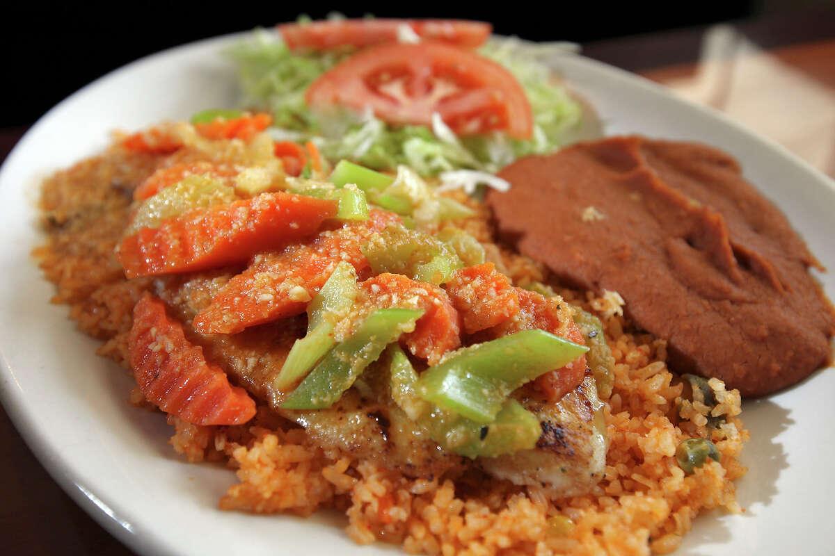 The Filete de Pescado al Mojo de Ajo at El Bucanero Thursday June 28, 2012.