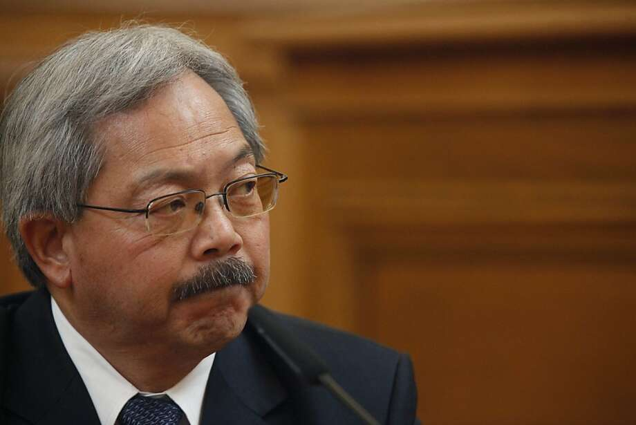 Mayor Ed Lee testifies before the Ethics Commission during suspended Sheriff Ross MirkarimiÕs official misconduct hearing at City Hall on Friday, June 29, 2012 in San Francisco, Calif. Photo: Lea Suzuki, The Chronicle