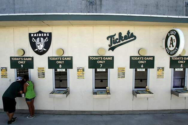 A's fans aren't exactly beating down the door for tickets at the O.co Coliseum, where the team's attendance has been weak. Photo: Sarah Rice, Special To The Chronicle