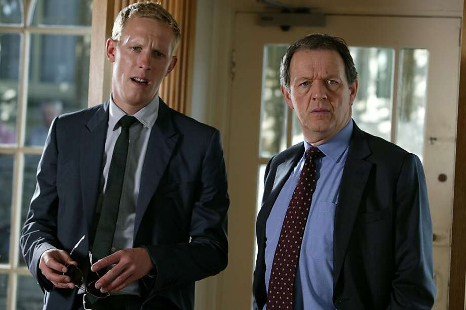 MASTERPIECE Mystery! Lewis V:  The Indelible Stain Sunday, July 30, 2012 at 9pm ET on PBS Shown from left to right: Laurence Fox as DS Hathaway and Kevin Whately as Inspector Lewis Photo: ITV For Masterpiece