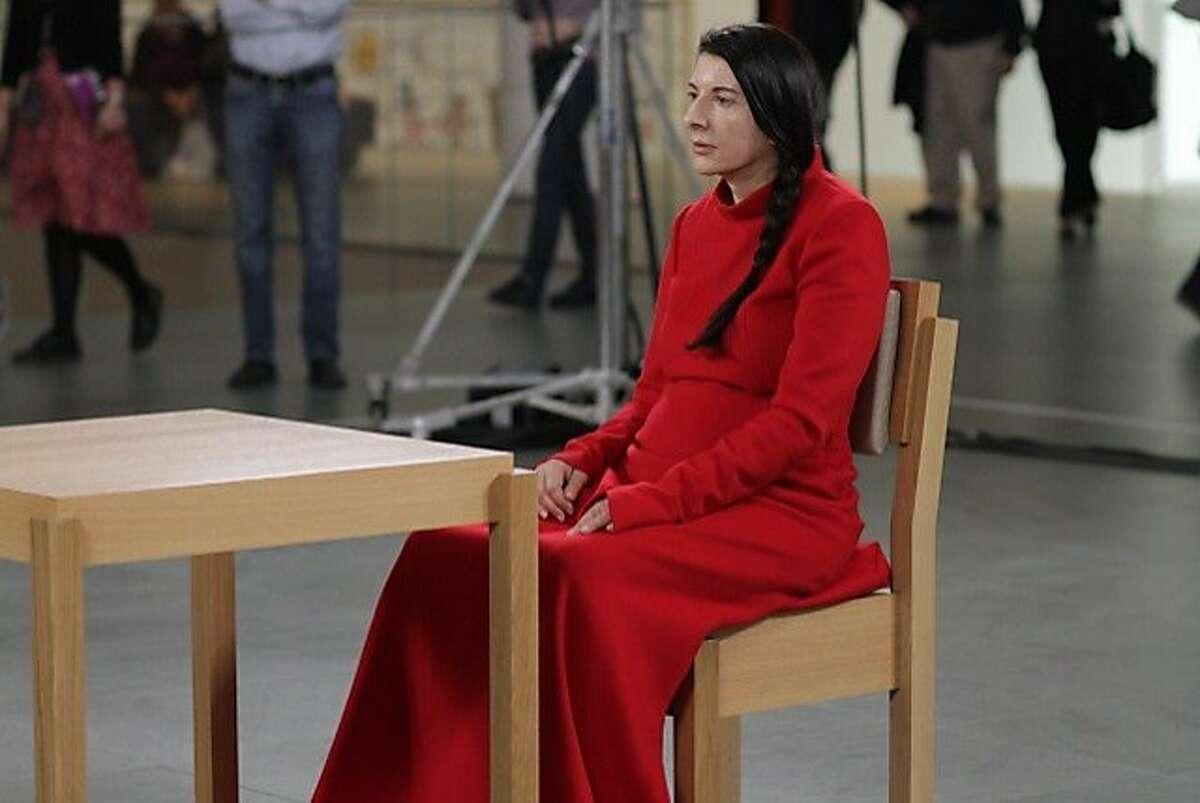 Marina Abramovic is seen in,