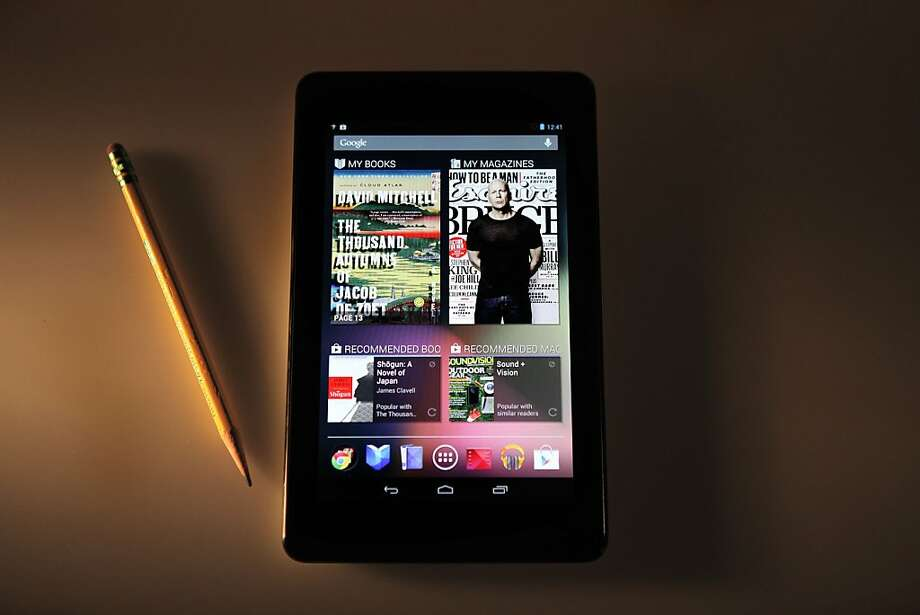 The Nexus 7 tablet made for Google photographed on Tuesday, July 3, 2012. Photo: Liz Hafalia, The Chronicle