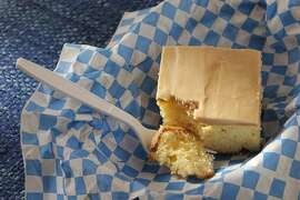 Lemon Picnic Cake as seen in San Francisco, California on Wednesday, June 20, 2012. Food styled by Lynne Char Bennett.