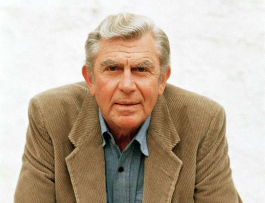 "FILE - This March 6, 1987 file photo shows actor Andy Griffith in Toluca Lake, Calif. Griffith, whose homespun mix of humor and wisdom made ""The Andy Griffith Show"" an enduring TV favorite, died Tuesday, July 3, 2012.  He was 86.  (AP Photo/Doug Pizac, file) Photo: Doug Pizac"