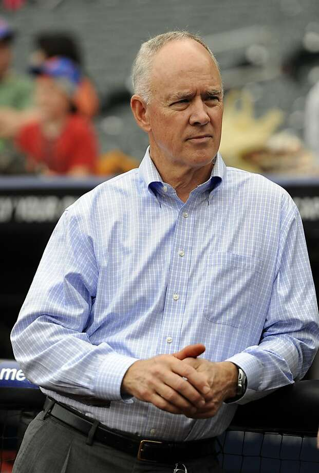 New York Mets General Manager Sandy Alderson during a press interview before the baseball game against the San Diego Padres on Friday, May 25, 2012, at Citi Field in New York. (AP Photo/Kathy Kmonicek) Photo: Kathy Kmonicek, Associated Press