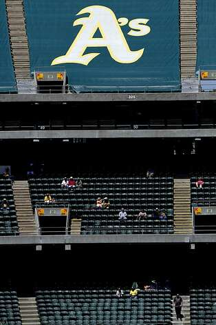 Attendance is sparse during the Oakland A's game against the Blue Jays in Oakland, Calif., Wednesday, May 9, 2012. Photo: Sarah Rice, Special To The Chronicle