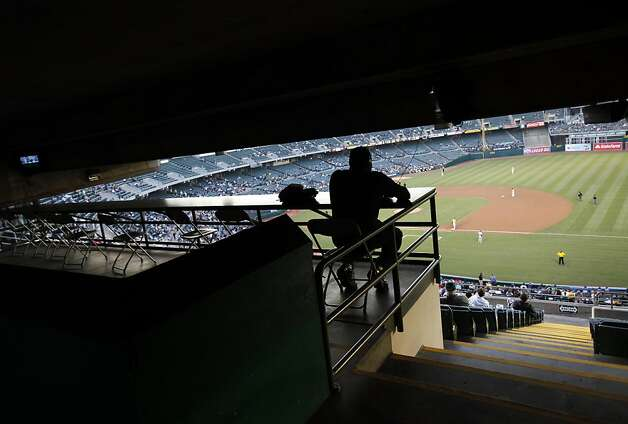 There are plenty of open seats at the Oakland A's game against the Blue Jays in Oakland, Calif., Tuesday, May 8, 2012. Photo: Sarah Rice, Special To The Chronicle