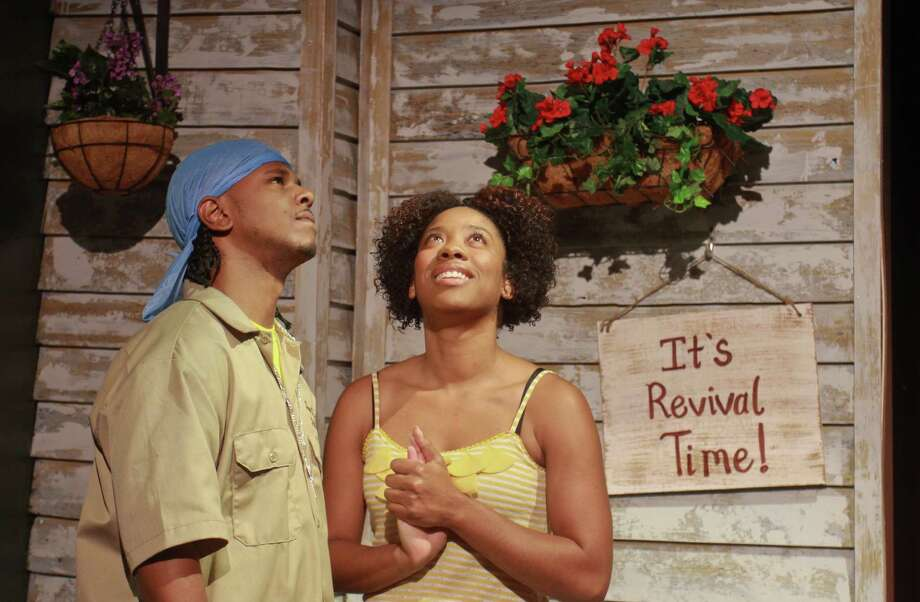 """Palmore and Candice D'Meza star in Ensemble Theatre's musical gospel comedy """"Sanctified."""" Photo: Gary Fountain / Copyright 2012 Gary Fountain."""