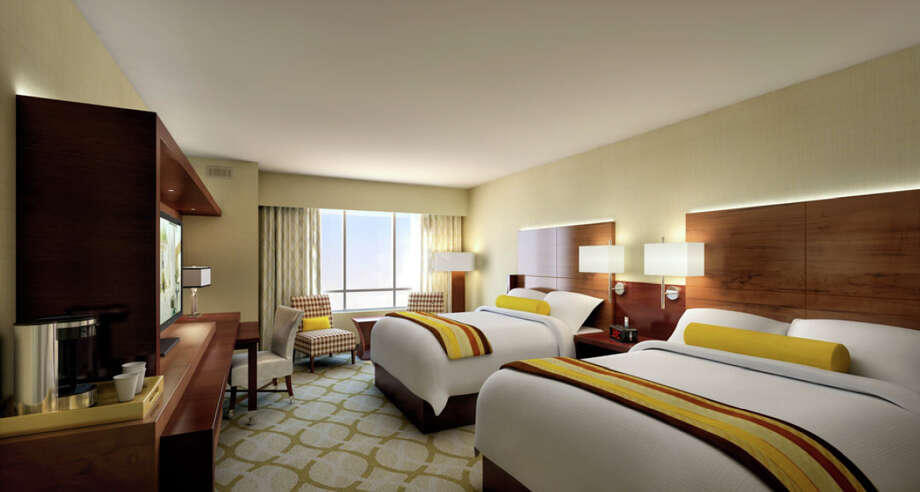 One of the new bedroom layouts from Coushatta Casino Resort's new 401-room Seven Clans Hotel opening officially on July 11, 2012. Photo: Coushatta Resort Casino