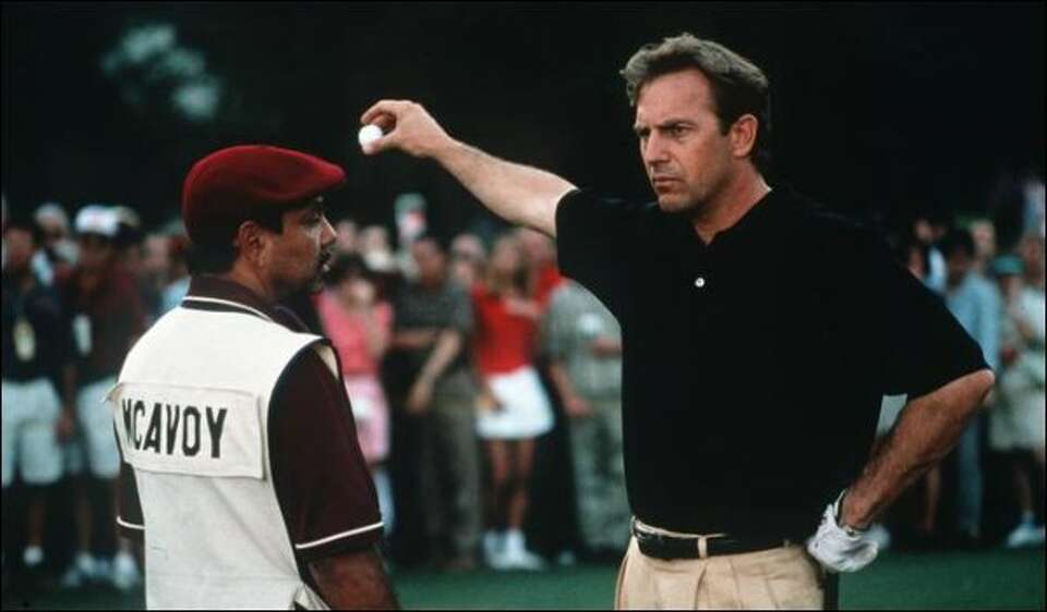 The final tournament shot in Kevin Costner's film ""