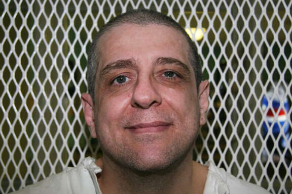 In this photo taken Dec. 16, 2009, death row inmate Hank Skinner is seen in the visiting area of the Texas Department of Criminal Justice's Polunksy Unit.