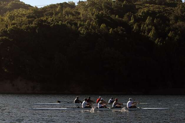 The U.S. Olympic rowing team men's 8 practices on Briones Reservoir on Wednesday, July 4, 2012, in Orinda, Calif. Photo: Carlos Avila Gonzalez, The Chronicle