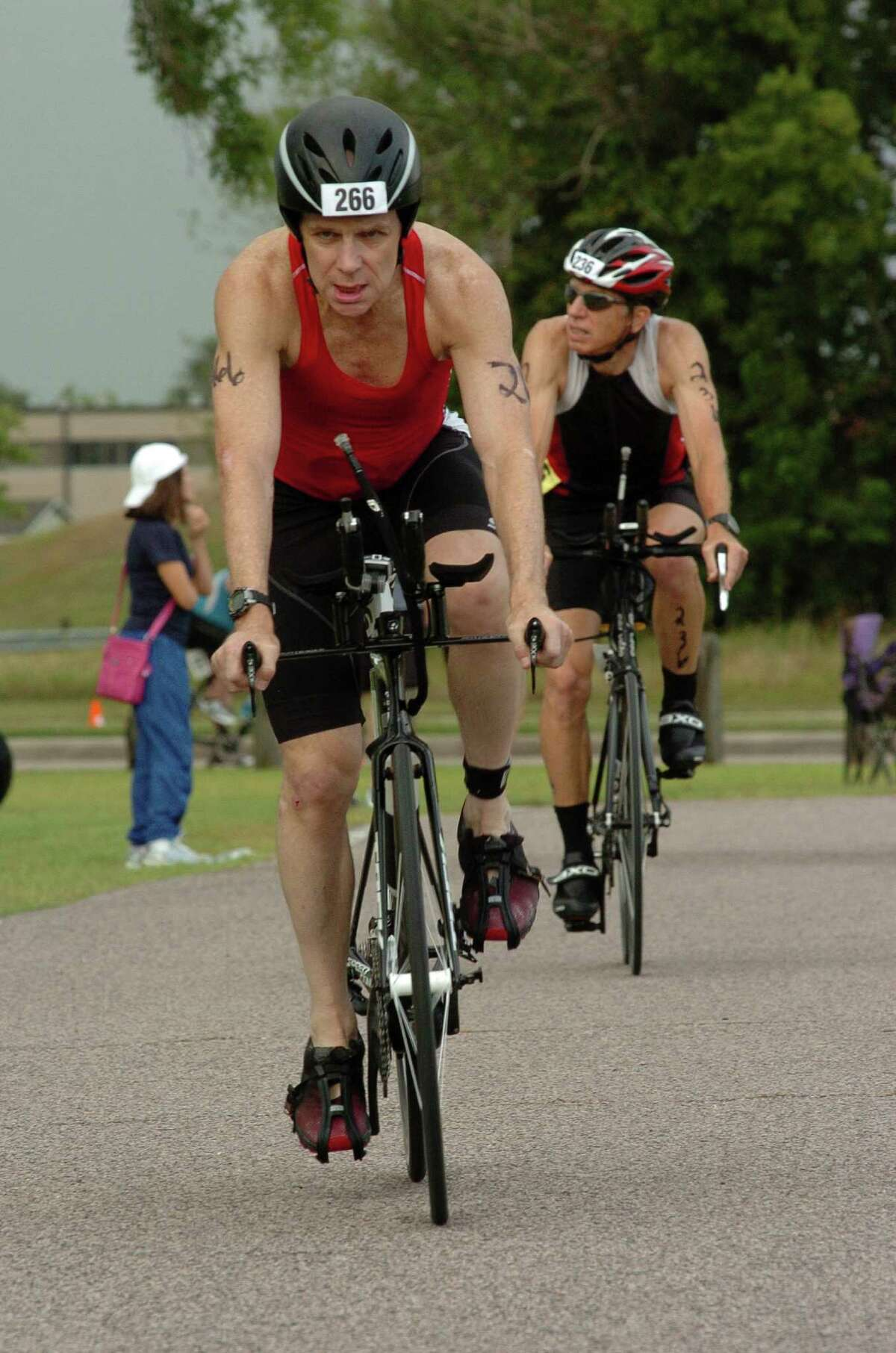 Dan Black placed first in his age group in the YMCA's Y Freedom Triathlon in Pearland on Sunday, the day before he completed his third round of chemotherapy.