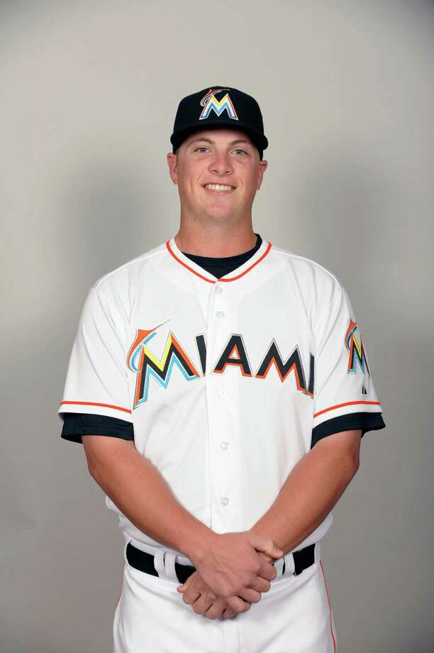 JUPITER, FL - FEBRUARY 27:  Matt Dominguez (54) of the Miami Marlins poses during Photo Day on Monday, February 27, 2012 at Roger Dean Stadium in Jupiter, Florida.  (Photo by Tony Firriolo/MLB Photos via Getty Images) *** Local Caption *** Matt Dominguez Photo: Tony Firriolo / 2012 MLB Photos