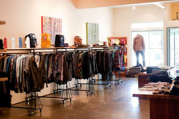 Convert: One of the few places with both his and hers eco-friendly fashion  from labels such as Obey, G-Star, Prairie Underground and Nau; and a  few doors away, an exclusive line of trendy non-leather Jeffrey Campbell  shoes. Down to the repurposed cardboard shelving and flea market  sourced decor, these sister stores pack a PC punch. 1809-B Fourth St., Berkeley. (510) 649-9759; Convert Shoes, 1844 Fourth St., Berkeley. (510) 984-0142. www.convertstyle.com. Photo: Convert