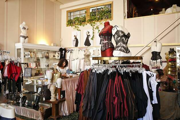 Dark Garden: The Bay Area's premier shop for corsets serves both women and men,  offering custom and ready-to-wear apparel in sumptuous satins and  leather. Tucked into a street in Hayes Valley, the shop is a favorite  among brides, Burning Man fans and devotees of all things goth. Prices range from $250 to $500. 321 Linden St., S.F. (415) 431-7684; www.darkgarden.com. Photo: Russell Yip, The Chronicle