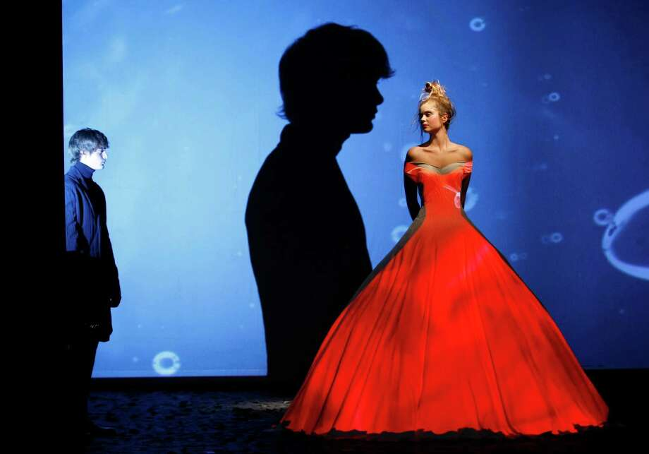 A model wears a creation designed by French fashion designer Frank Sorbier for his Haute Couture Fall-Winter 2013 collection presented in Paris, Wednesday, July 4, 2012. Photo: Thomas Padilla, AP / AP