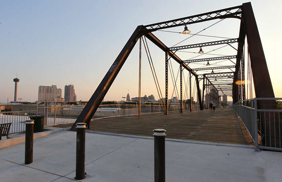 View of the city skyline from the Hays Street Bridge on Friday, June 22, 2012. Alamo Beer Company is proposing to build a brewery at 803 North Cherry Street.