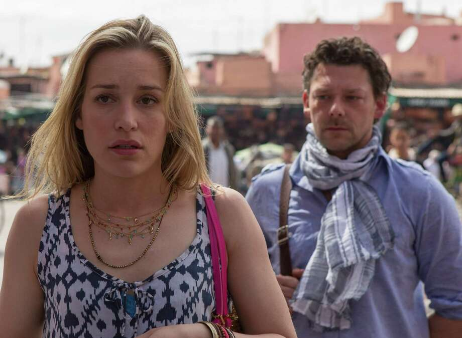 Piper Perabo as agent Annie Walker joins guest star Richard Coyle on a dangerous overseas mission. Photo: Didier Baverel, USA Network