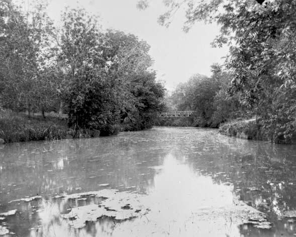This scene from 1891 the river in Brackenridge Park.  (RABA COLLECTION) Photo: Ernst Wilhelm Raba, Courtesy Photo / San Antonio Conservation Society