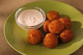 Crisp, Cheesy Polenta Balls as seen in San Francisco, California on Wednesday, June 6, 2012.  Food styled by Stephanie Kirkland.