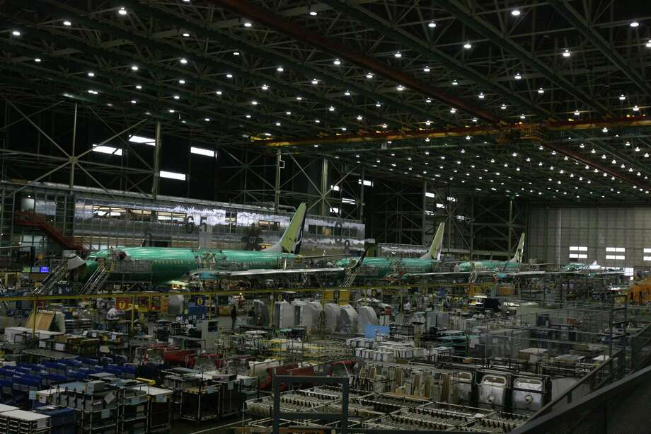 Boeing 737 production is shown on June 14, 2012 in Boeing's plant in Renton. Boeing plans to eventually produce Next-Generation 737 and 737 MAX airplanes on the same lines in the plant. Photo: Aubrey Cohen, Seattlepi.com Staff
