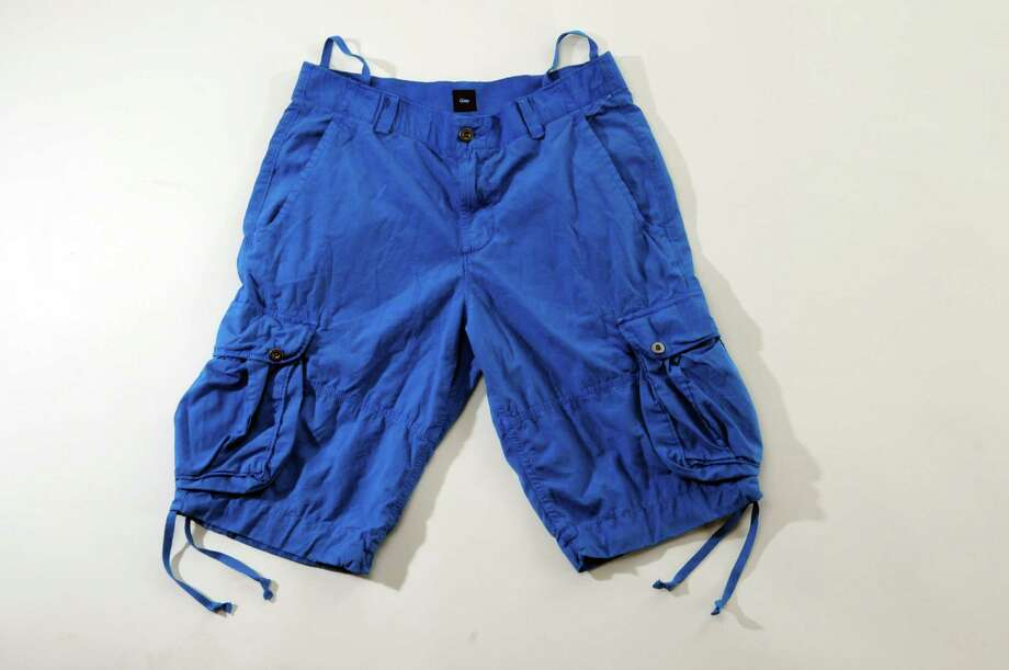 Six pockets is some serious storage space. While the vibrant blue color is in style, the oversized look is certainly not. Gap $32.99 (Philip Kamrass / Times Union) Photo: Philip Kamrass / 00018065A