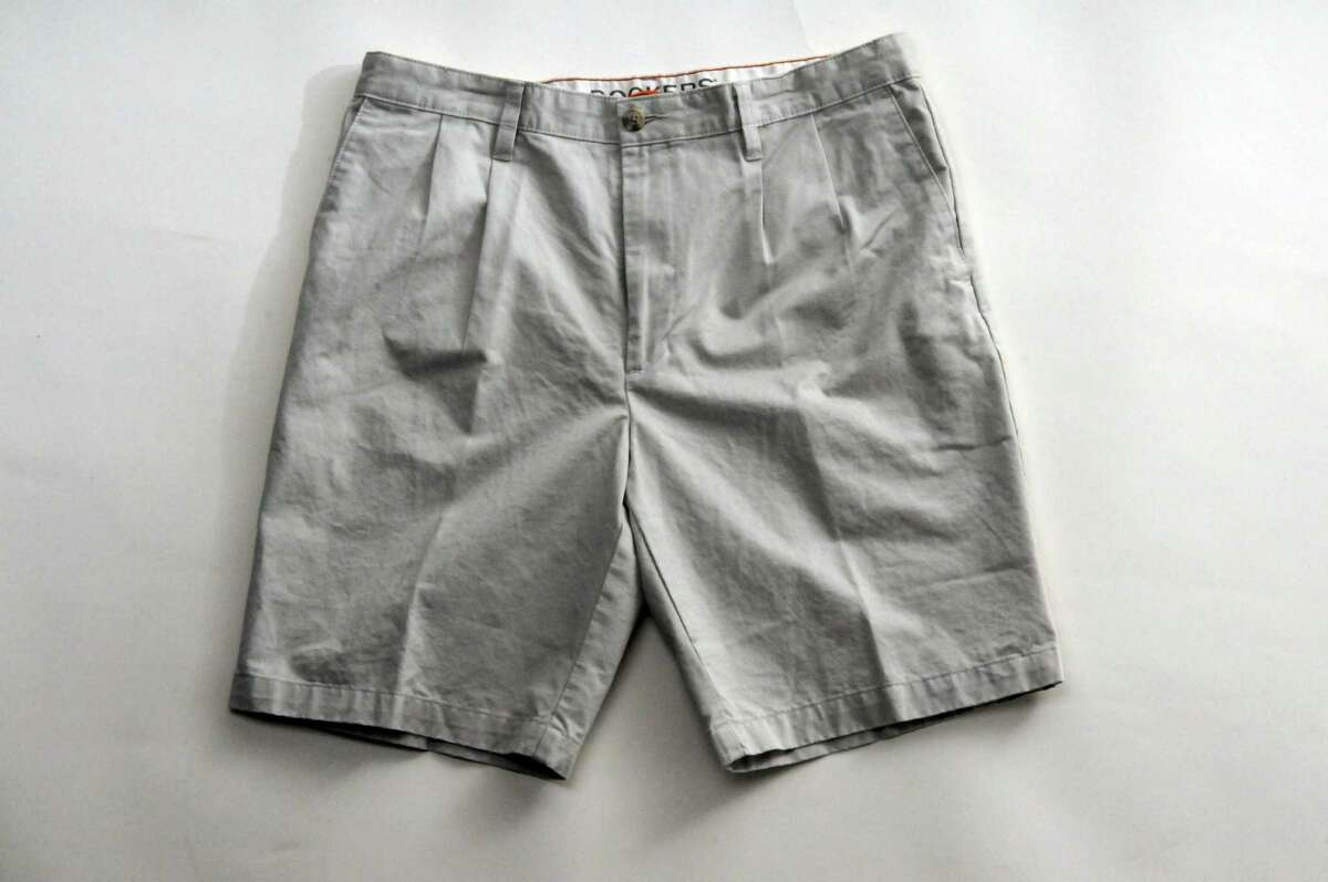 Pleats add a a bulge around the waistband and make the shorts appear wrinkled. (Philip Kamrass / Times Union)