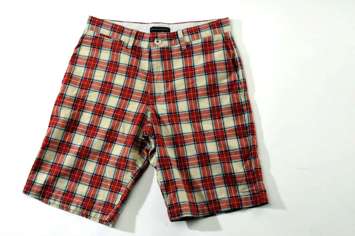 Plaid shorts have been placed on the back burner while up and coming trends take center stage. The mixture of colors and complexity of the pattern is a bit too distracting for the lower half. Banana Republic $59.50 (Philip Kamrass / Times Union)