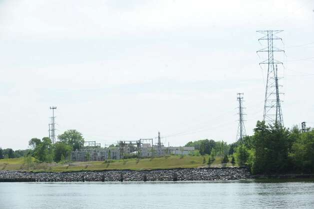 The Cos Cob Power Plant as seen looking west from Miltiades Avenue in Riverside, Thursday, July 5, 2012. Photo: Bob Luckey / Greenwich Time