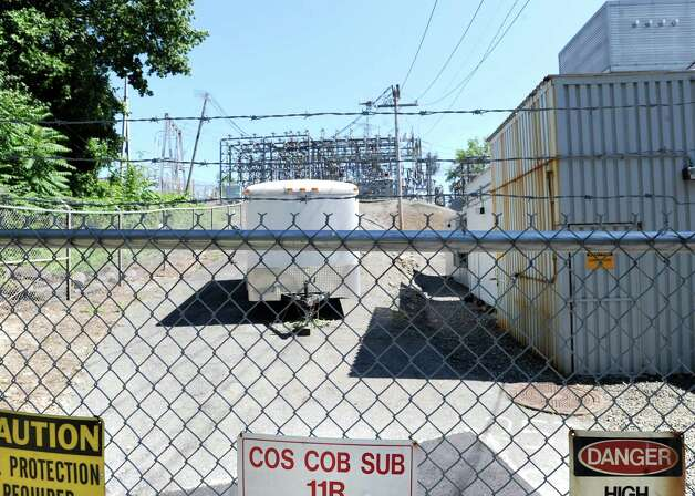 The Cos Cob power plant as seen from Sound Shore Drive, Wednesday, June 27, 2012. Photo: Bob Luckey / Greenwich Time
