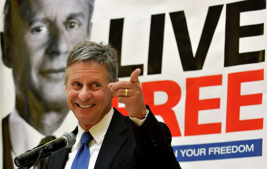 Former New Mexico Gov. Gary Johnson in 2012, after announcing he was leaving the Republican Party to seek the nomination as the Libertarian presidential candidate that year. Photo: Eddie Moore / AP2011