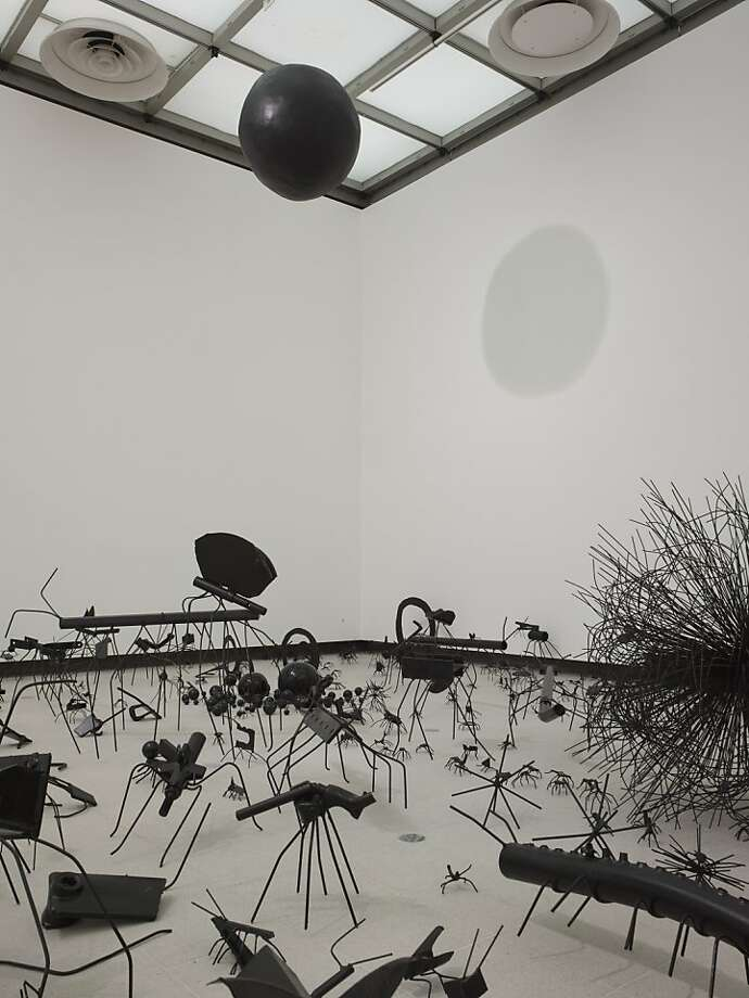 """""""Insects"""" (2009) installation of painted steel and polyester by David Shrigley Photo: Linda Nyland"""