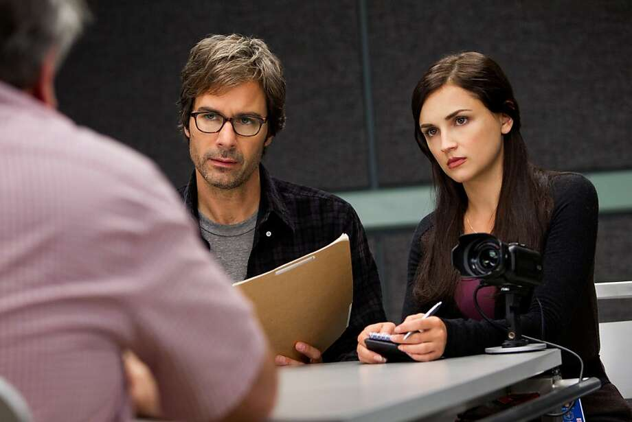 "This publicity image released by TNT shows Eric McCormack, left, and Rachael Leigh Cook in a scene from ""Perception,"" premiering Monday at 10 p.m. EDT on TNT. McCormack portrays Dr. Daniel Pierce, a brilliant neuroscience professor with paranoid schizophrenia who is recruited by the FBI for a side job: to help solve cases that call for expertise in human behavior and the workings of the mind. (AP Photo/TNT, Doug Hyun) Photo: Doug Hyun, Associated Press"