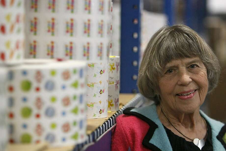 Andrea Grossman, or Mrs. Grossman as many know her, is the woman who invented stickers, however she also is a philanthropist and devotes her time to helping children in her community. Photo: Sean Culligan, The Chronicle