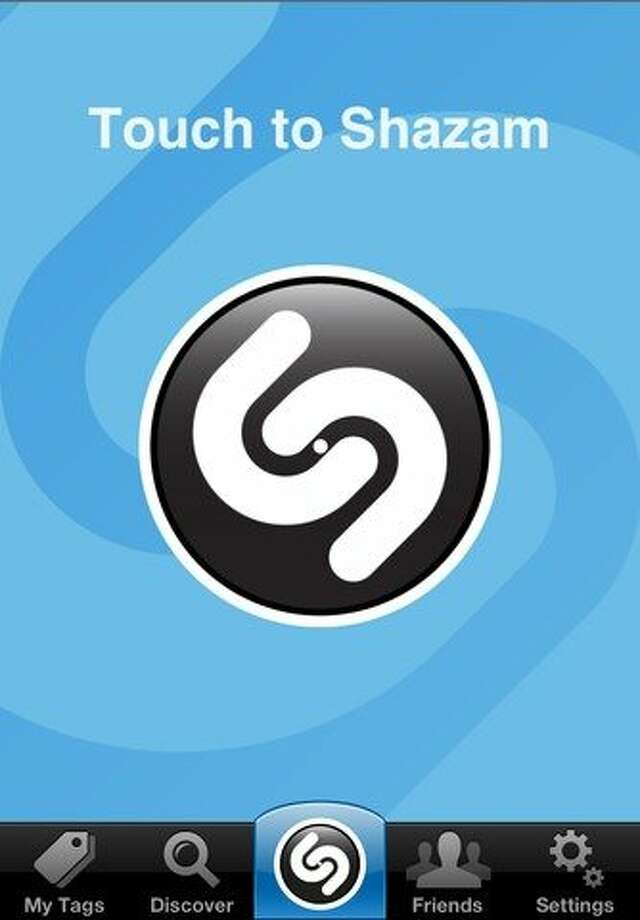 Shazam for iphone. The mobile can identify nearly any song playing on the radio, even over the din of a coffee shop. Photo: Shazam Entertainment Ltd., Shazam