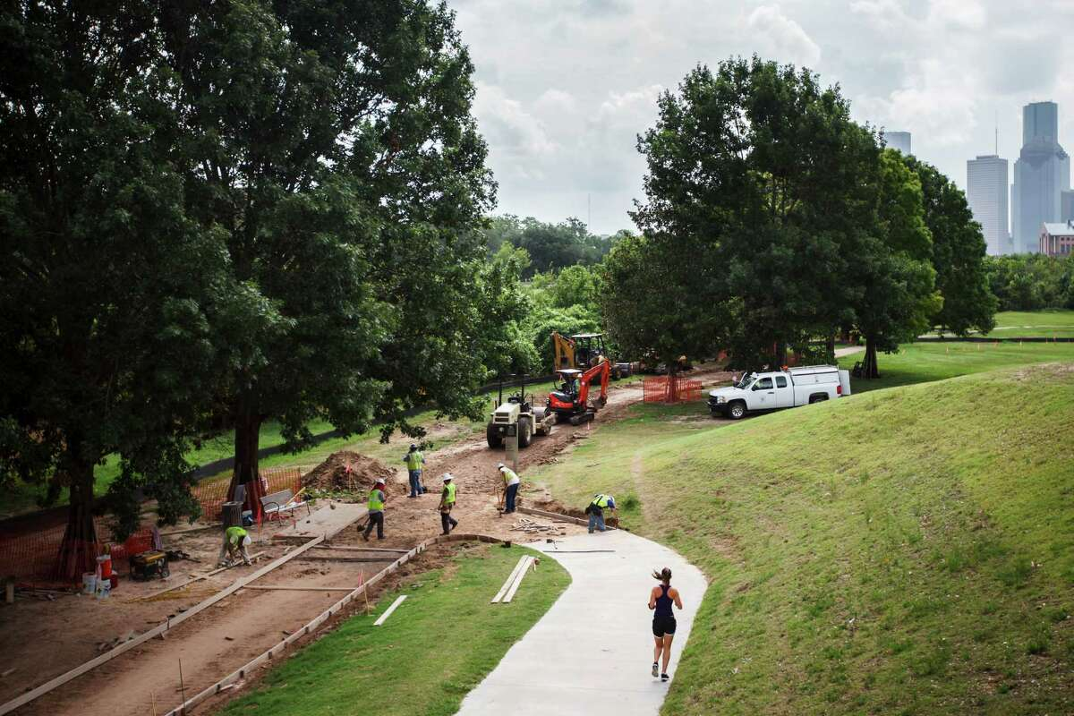 The Buffalo Bayou Partnership's plan calls for extensive upgrades along the waterway between Shepherd and Sabine that are intended to improve aesthetics, attract more park visitors and reduce the risk of flooding.