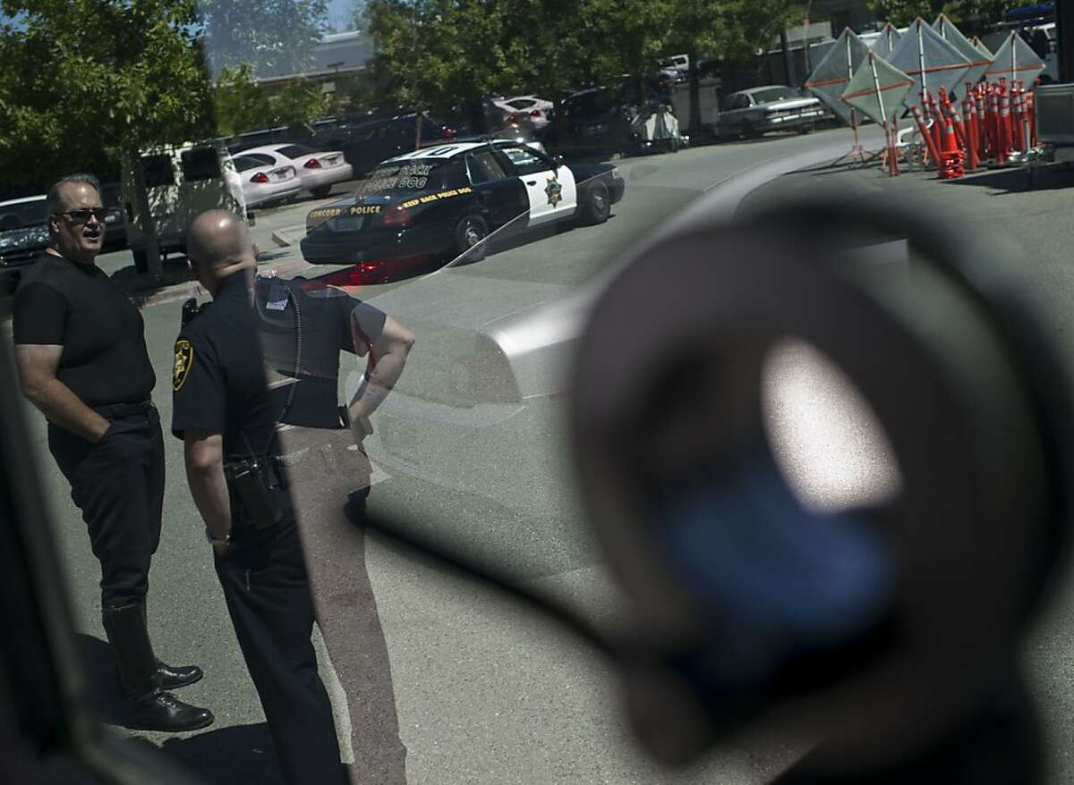Inside of Armored Vehicle at Concord Police Department, Concord, Calif on Thursday, July 5, 2012.