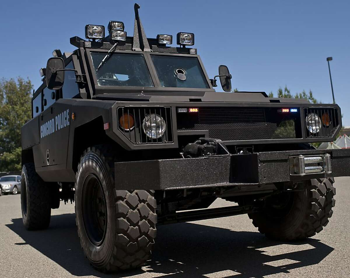 Armored Vehicle at Concord Police Department, Concord, Calif on Thursday, July 5, 2012.