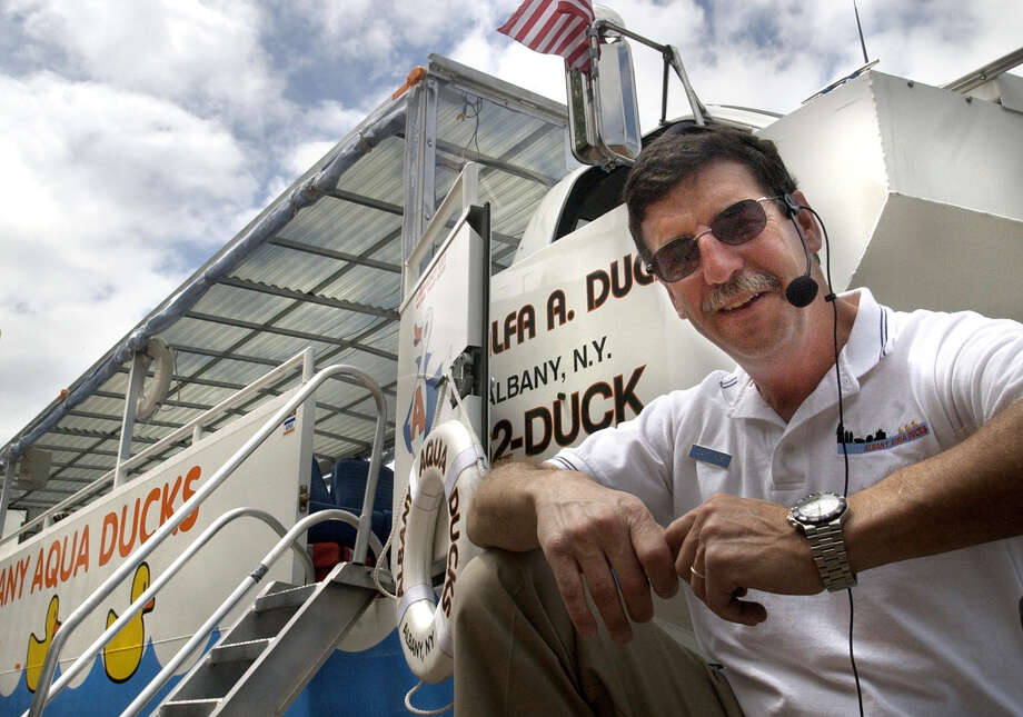 Albany Aqua Ducks founder Bob Wolfgang in July of 2004. Albany Aqua Ducks has sold its amphibious vehicles and will end tours after July 15. (Will Waldron / Times Union Archive) Photo: WILL WALDRON