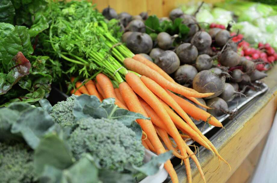 Fresh produce at Engel's Acres farm stand on Route 2 in Troy Thursday July 5, 2012.  (John Carl D'Annibale / Times Union) Photo: John Carl D'Annibale / 00018356A