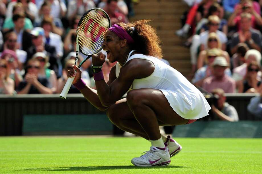 After defeating No. 2 seed Victoria Azarenka on Thursday, Serena Williams, above, will meet Agniesza Radwanska on Saturday to try to win her fifth Wimbledon singles championship. Photo: GLYN KIRK / AFP