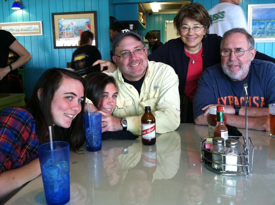 Lunch at Fishy-Fishy Cafe in Southport with my family -- a regular excursion whenever we're visiting North Carolina.
