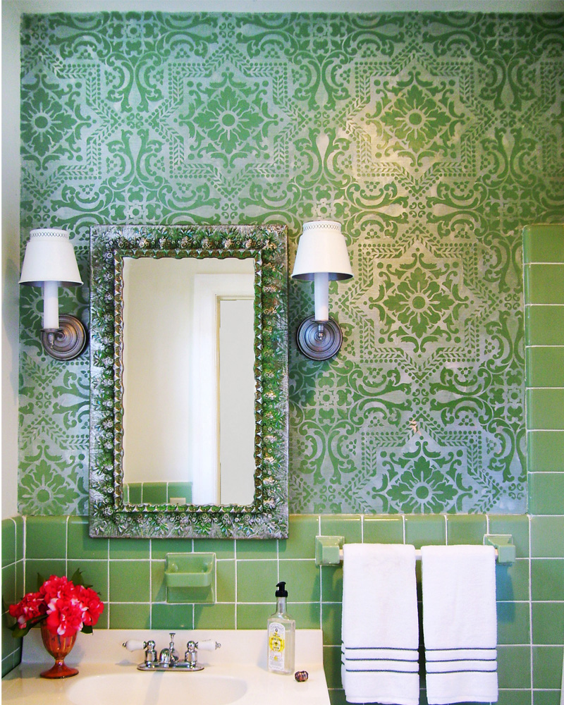 Diy home deco with stencils beaumont enterprise for Bathroom remodeling beaumont tx