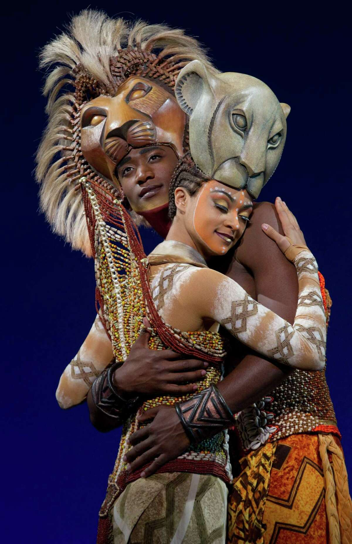 """Syndee Winters as """"Nala"""" and Jelani Remy as """"Simba"""" from THE LION KING National Tour. Disney. Photo Credit: Joan Marcus."""