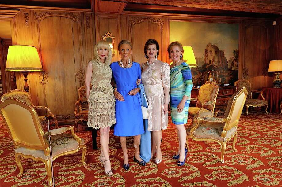 Diane Lokey Farb, from left, Madame Christiane Guerlain, Donna Chapman and Linda Barrett Photo: AHPF