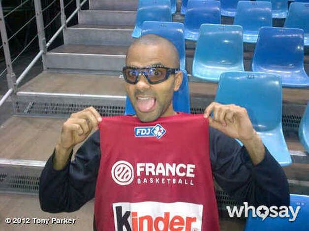 Tony Parker shared a photo of his new protective eyewear, which he will try out July 6, 2012, during practice with the French National Team. (Courtesy photo)