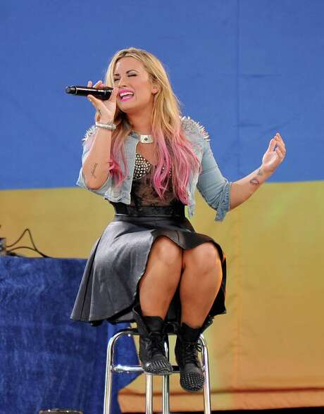 "NEW YORK, NY - JULY 06:  Singer Demi Lovato performs on ABC's ""Good Morning America"" at Rumsey Playfield, Central Park on July 6, 2012 in New York City. Photo: Stephen Lovekin, Getty Images / 2012 Getty Images"