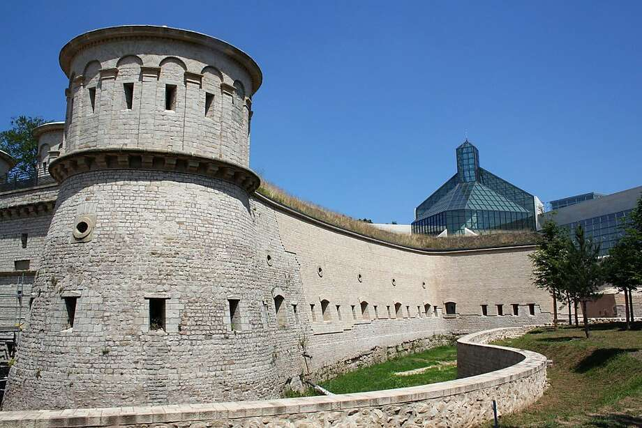 The Vauban fortress in France's Chausey islands has a mostly dried moat like the one at Luxembourg's historic Fort Thüngen (above). Photo: Jean-Noël Lafargue